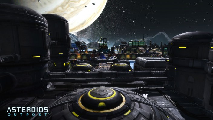 Asteroids Outpost: Base Screen