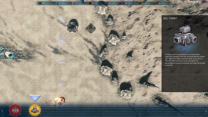 Asteroids: Outpost™: Basis und Turm entrichten