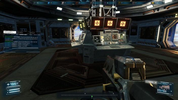 Asteroids: Outpost™: Die Basis von Innen