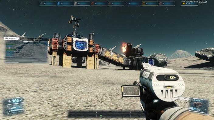 Asteroids: Outpost™: Basis und Turm verbunden durch Tunnel