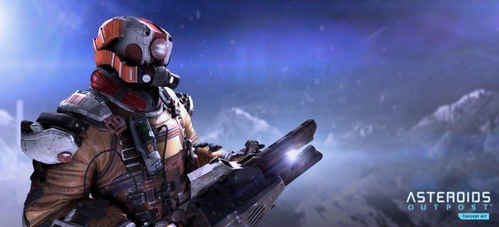 Asteroids Outpost: Helmet Render