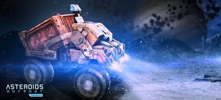 Asteroids Outpost: Truck Render