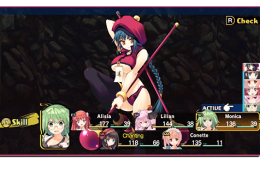 Dungeon Travelers 2: The Royal Library mit Kampfamazonen