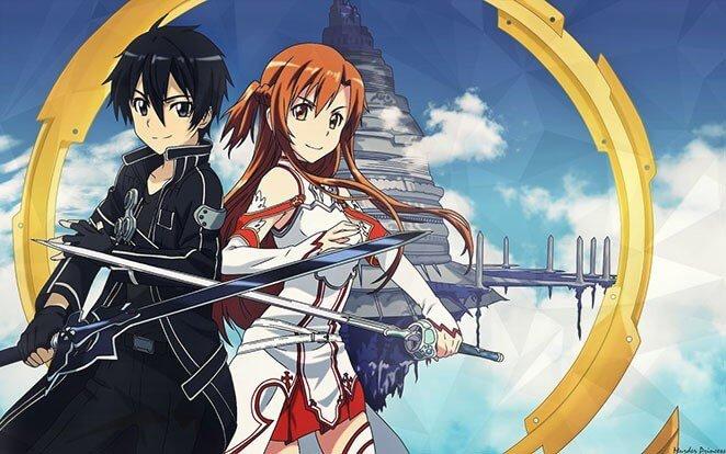 Top 10 der beliebtesten Animes - sword-art-online-kirito-asuna-sao-online