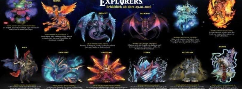 Final Fantasy Explorers – Alle zwölf Beschwörungen