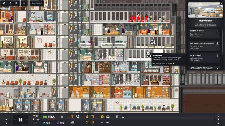 gamescom 2016: Project Highrise - Retail Unit Placement