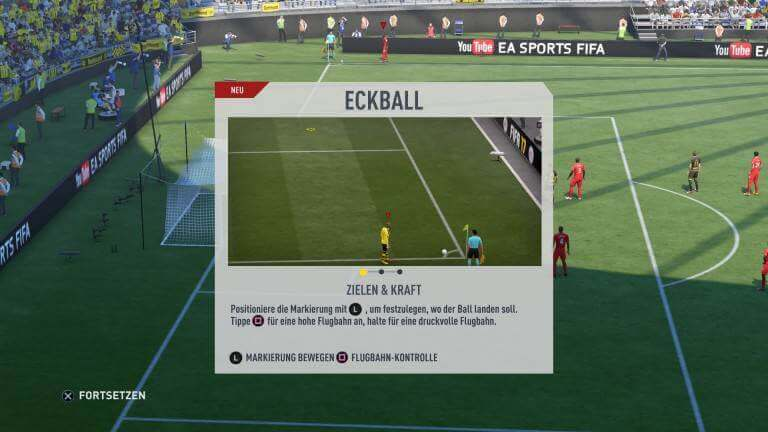 FIFA 17: Eckball Zielen & Kraft