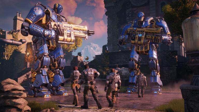 Gears of War 4 bietet brachiale Roboterfights