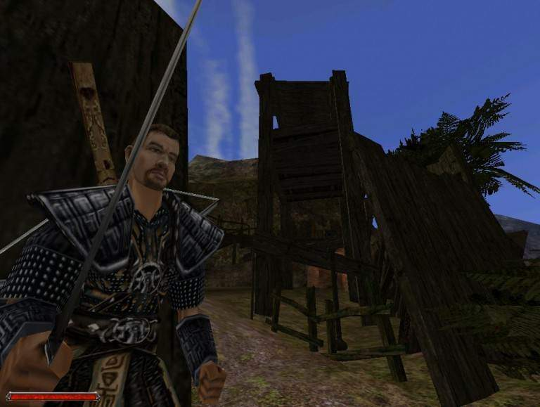 Egal welchem Lager man sich nun anschließt, kann man sich auf Nah- und Fernkampf sowie auch auf Magie spezialisieren. Hier zu sehen: Ein Templer des Sumpflagers.