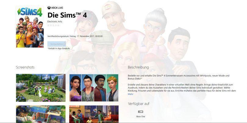 Die Sims 4 für Xbox One